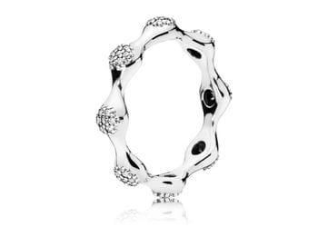 фотография кольцо пандора сверкающие капли росы с67453к-3