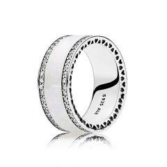 фотография кольцо пандора белый перламутр