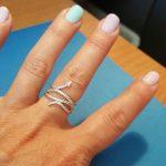 фотография кольцо пандора сияющая змея н45237м-1 №1