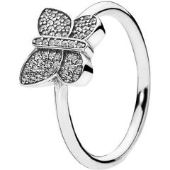 фотография кольцо пандора сверкающая бабочка е87564а-1