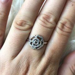 фотография кольцо пандора сверкающая роза н7965л-4 №2