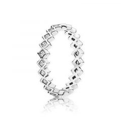 фотография кольцо пандора сверкающий ромб к06745с-1