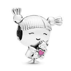 фотография шарм пандора девочка с хвостиками 143257ДК-3