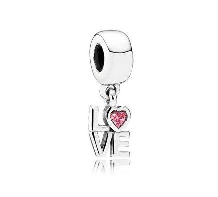 фотография подвеска пандора любовь (розовая) 791253CZS-
