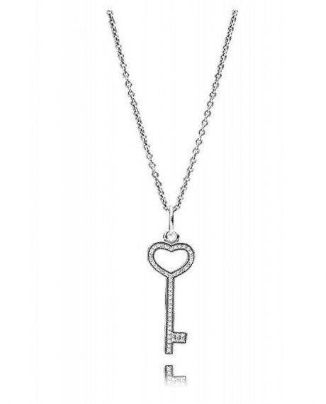 фотография кулон с цепочкой пандора ключ к сердцу К006