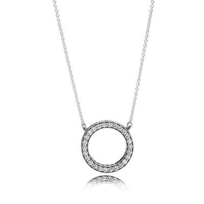 фотография колье пандора сверкающее кольцо К014