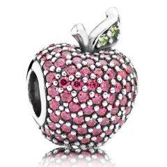 фотография шарм пандора красное яблоко паве 791485CFR-3