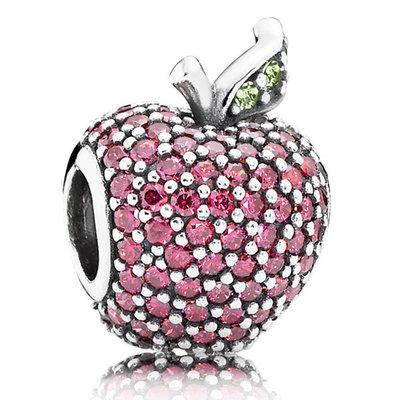 фотография шарм пандора красное яблоко паве 791485CFR