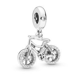 фотография подвеска пандора сверкающий велосипед 87345Р