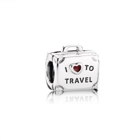 фотография шарм пандора чемодан я люблю путешествовать 908745НЧ