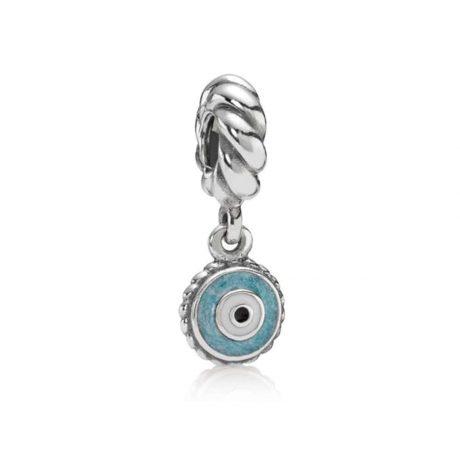 фотография подвеска пандора голубой глаз 790529EB