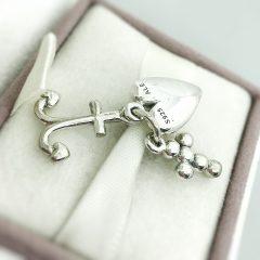 фотография подвеска-шарм пандора вера, надежда, любовь 791120CZS №3
