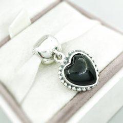 фотография подвеска-клипса пандора черное сердце 791046ON №1