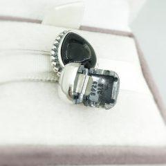 фотография подвеска-клипса пандора черное сердце 791046ON №2