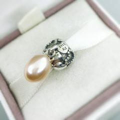 фотография подвеска-шарм пандора сердечки и жемчуг 791017PNP №2