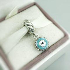 фотография подвеска пандора голубой глаз 790529EB №1
