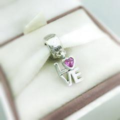 фотография подвеска пандора любовь (розовая) 791253CZS- №1