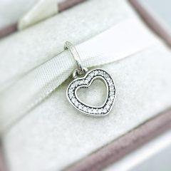 фотография подвеска пандора нежное сердце 791304CZ- №4
