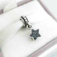 фотография подвеска-шарм пандора черная звезда, паве 791024NCK №1