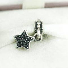 фотография подвеска-шарм пандора черная звезда, паве 791024NCK №3
