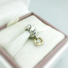 фотография подвеска пандора обручальное кольцо (с золотом 585 пр) 790999D-1 №1