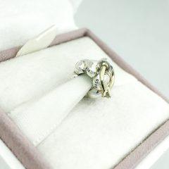 фотография подвеска пандора обручальное кольцо (с золотом 585 пр) 790999D-1 №2