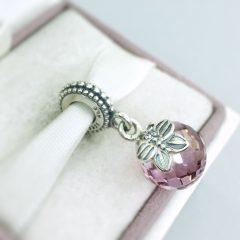фотография подвеска пандора розовая бабочка 791258PCZ №1