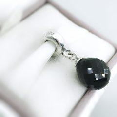 фотография подвеска-шарм пандора черная капелька 791602CBK №1