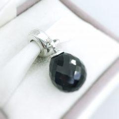 фотография подвеска-шарм пандора черная капелька 791602CBK №2