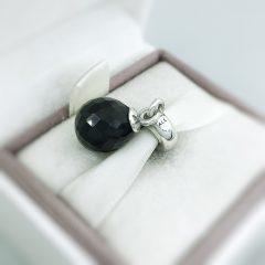 фотография подвеска-шарм пандора черная капелька 791602CBK №3
