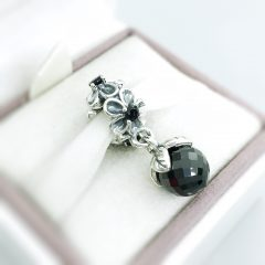 фотография подвеска-шарм пандора чёрные фиалки 790858SPB №1