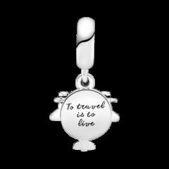 фотография подвеска пандора аэроплан (путешествие с любовью) 798027CZ- №3