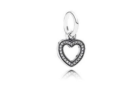 фотография подвеска пандора нежное сердце 791304CZ-