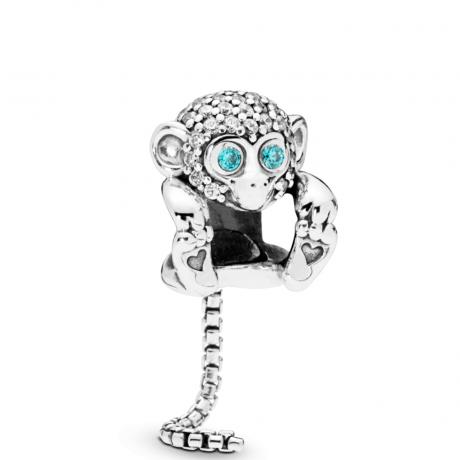 фотография шарм пандора сверкающая обезьяна 798054СZ