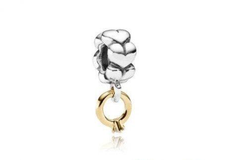 фотография подвеска пандора обручальное кольцо (с золотом 585 пр) 790999D-1