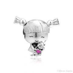 фотография шарм пандора девочка с хвостиками 143257ДК-3 №1