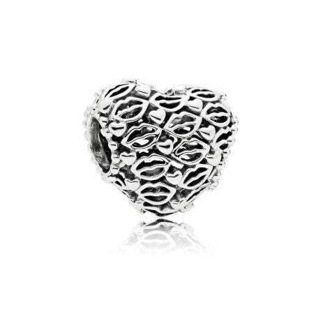 фотография шарм пандора сердечный поцелуй 45365-3