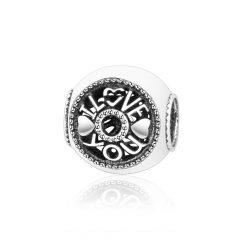 фотография шарм пандора я люблю тебя серебро 67453-1