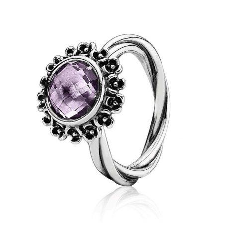 фотография кольцо пандора фиолетовая нежность к56437н-1