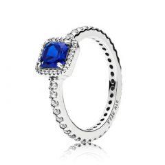 фотография кольцо пандора вечная элегантность синий камень а56342р-3