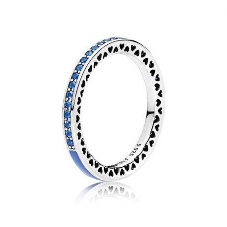 фотография кольцо пандора синяя сияющая вселенная К056743С-1