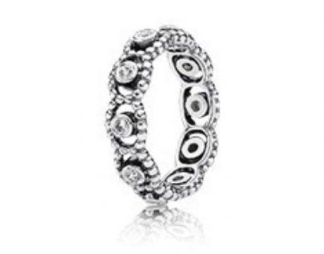 фотография кольцо пандора кружевное сияние к34125е-3