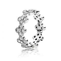фотография кольцо пандора восточные цветы н89675р-3