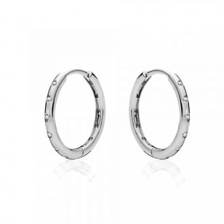 фотография серьги пандора кольца с камнями 78945-1
