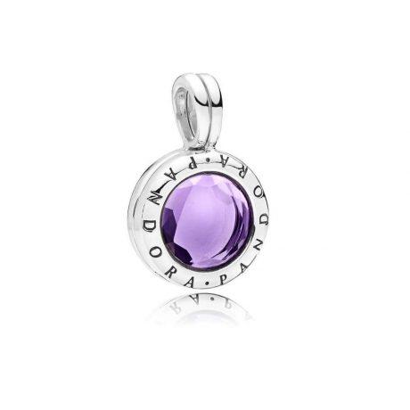 фотография медальон пандора фиолетовая логомания v56349n