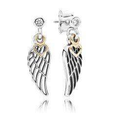 фотография серьги пандора волшебные крылья любви 56473-3