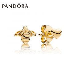 фотография серьги пандора пчелки 67349-1