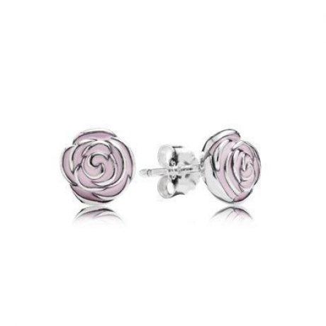 фотография серьги пандора нежные розы 67450-2
