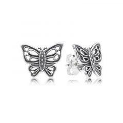 фотография серьги пандора большие бабочки 90673-1