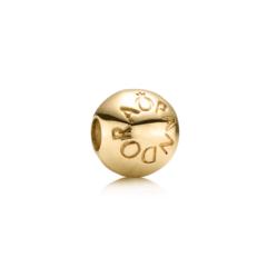 фотография клипса пандора золотая логомания 751015